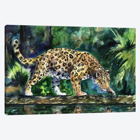 Leopard Canvas Print #GDY102} by George Dyachenko Canvas Art Print