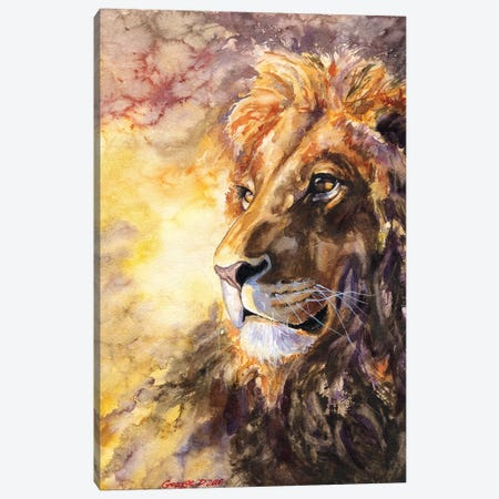 Lion I Canvas Print #GDY105} by George Dyachenko Canvas Wall Art