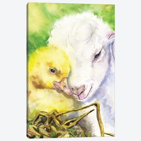 Little Friends Canvas Print #GDY107} by George Dyachenko Canvas Art