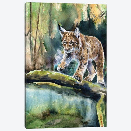 Lynx Canvas Print #GDY109} by George Dyachenko Art Print