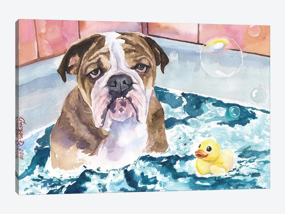 Bath Time by George Dyachenko 1-piece Canvas Art Print