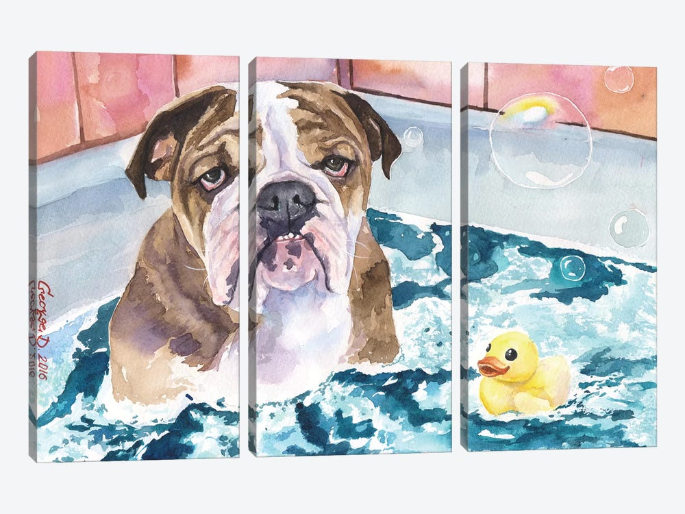 Bath Time 3-piece Art Print