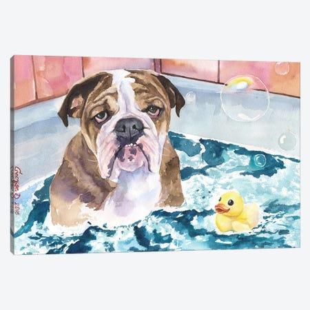 Bath Time Canvas Print #GDY10} by George Dyachenko Canvas Art