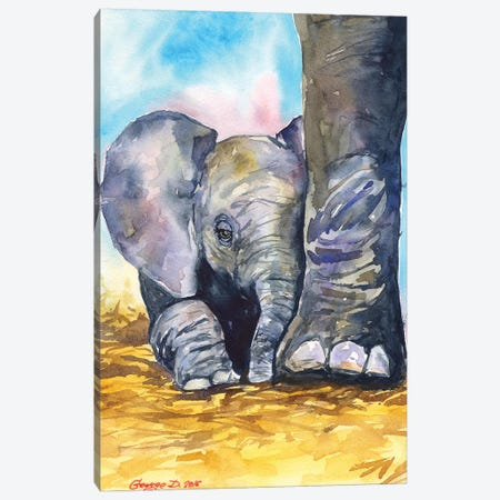 Mother Love Canvas Print #GDY110} by George Dyachenko Canvas Artwork