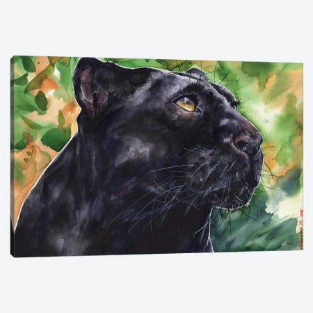 Panther Canvas Print #GDY113} by George Dyachenko Canvas Artwork