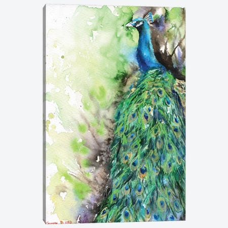 Peacock Canvas Print #GDY114} by George Dyachenko Canvas Print