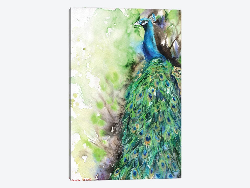Peacock by George Dyachenko 1-piece Canvas Wall Art