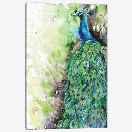 Peacock Canvas Print #GDY114} by George Dyachenko Canvas Print