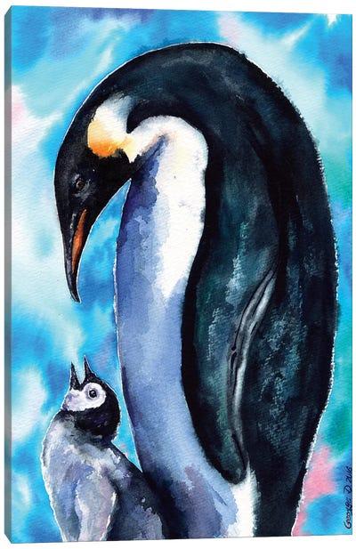 Penguin Family Canvas Art Print