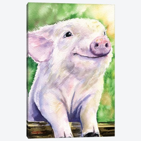 Piggy Canvas Print #GDY116} by George Dyachenko Canvas Art Print