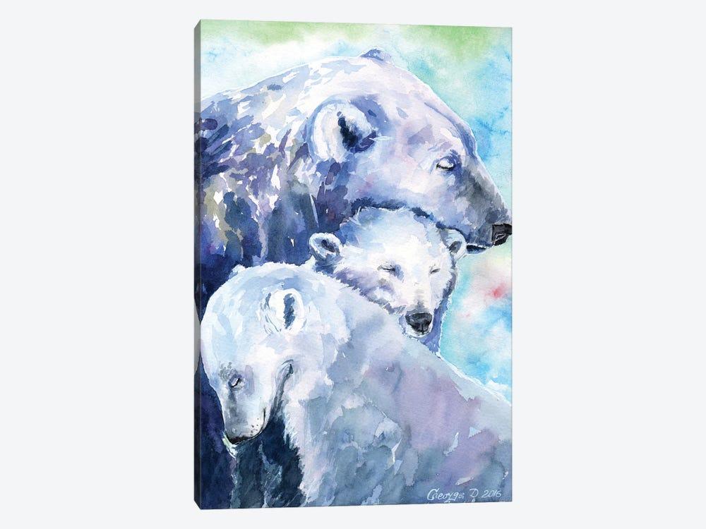 Polar Bears Family I by George Dyachenko 1-piece Canvas Art Print