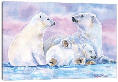 Polar Bears Family II Canvas Art Print