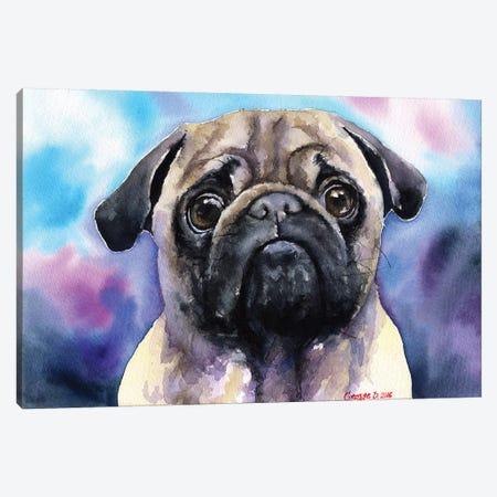 Pug Canvas Print #GDY121} by George Dyachenko Art Print
