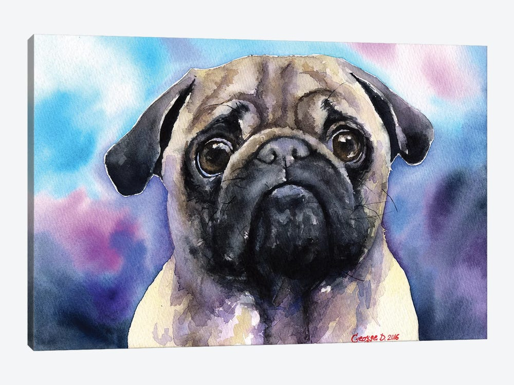 Pug by George Dyachenko 1-piece Canvas Wall Art
