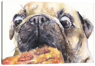 Pug And Pizza IV Canvas Art Print