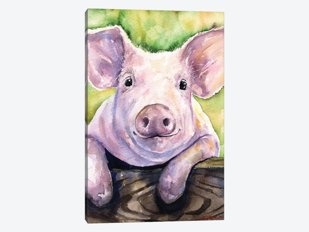 Smiling Pig by George Dyachenko 1-piece Canvas Art