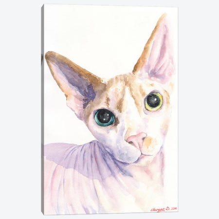 Sphynx Cat 3-Piece Canvas #GDY135} by George Dyachenko Canvas Print