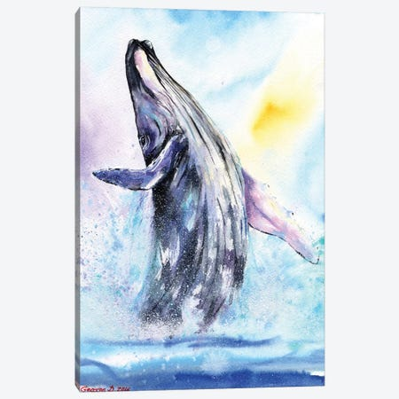 Whale Canvas Print #GDY140} by George Dyachenko Canvas Art Print