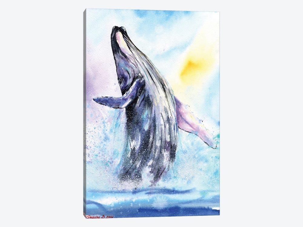 Whale by George Dyachenko 1-piece Canvas Print