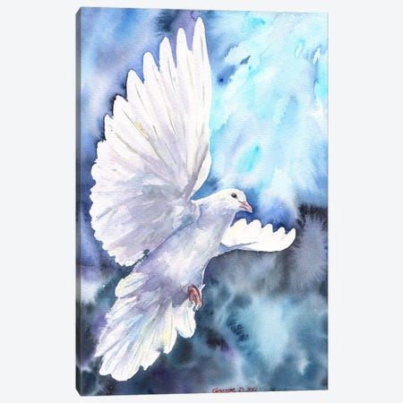White Dove Canvas Print #GDY142} by George Dyachenko Canvas Print