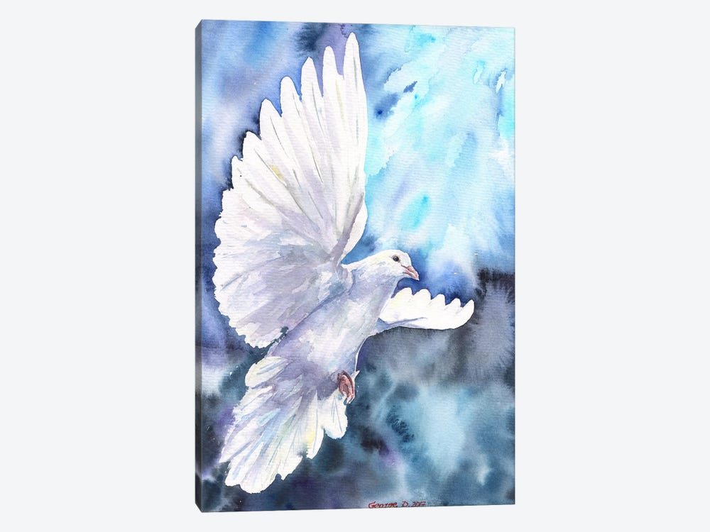White Dove by George Dyachenko 1-piece Canvas Art Print