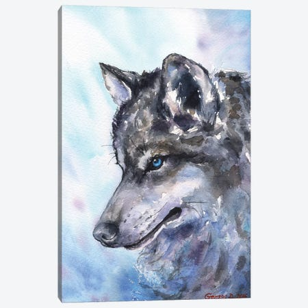 Wolf Canvas Print #GDY144} by George Dyachenko Canvas Wall Art