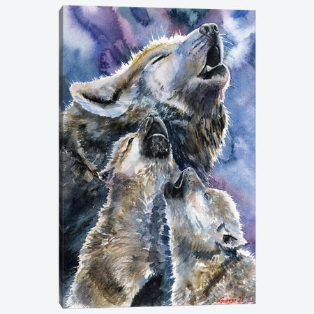 Wolf Family Canvas Print #GDY145} by George Dyachenko Canvas Wall Art