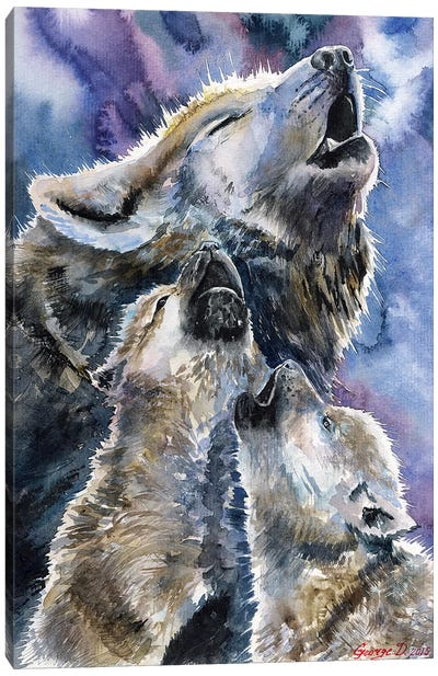 Wolf Family Canvas Art Print