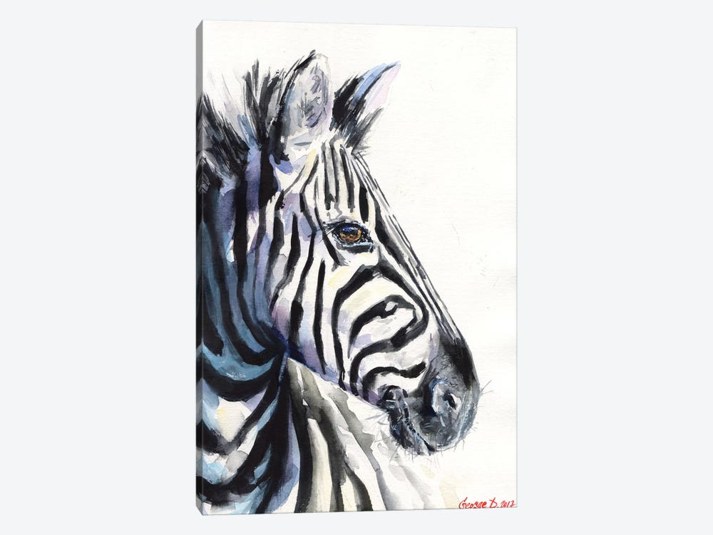 Zebra by George Dyachenko 1-piece Canvas Print