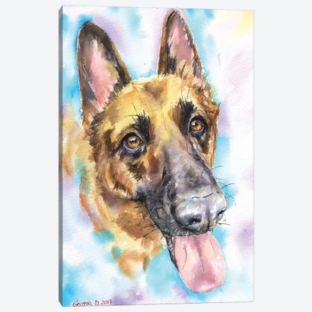 German Shepherd Canvas Print #GDY163} by George Dyachenko Canvas Art Print