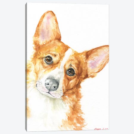 Corgi Canvas Print #GDY168} by George Dyachenko Art Print