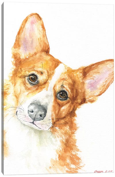 Corgi Canvas Art Print