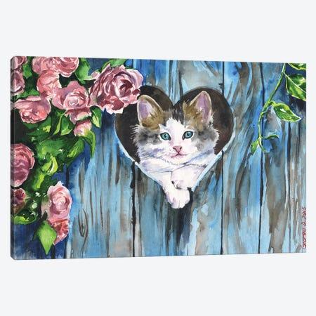 Blue Canvas Print #GDY16} by George Dyachenko Canvas Art Print