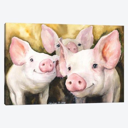 Happy Friends Canvas Print #GDY179} by George Dyachenko Canvas Artwork