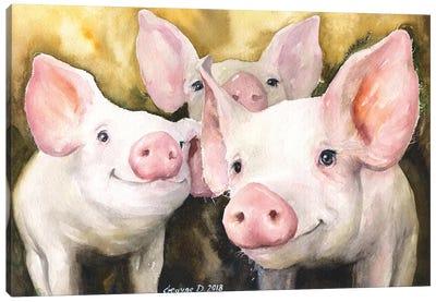 Happy Friends Canvas Art Print