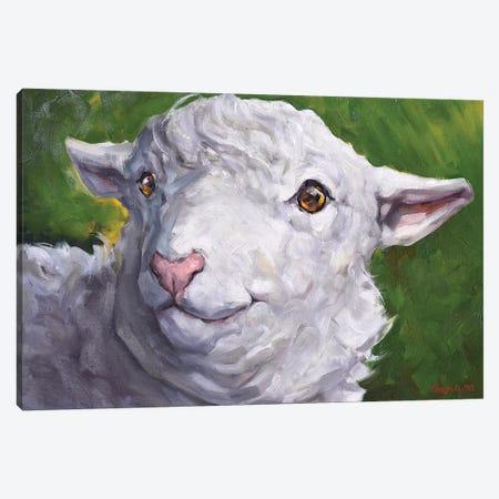 Cute Sheep Canvas Print #GDY186} by George Dyachenko Canvas Art