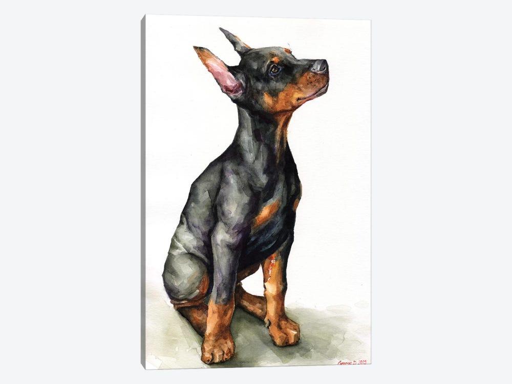 Doberman Puppy by George Dyachenko 1-piece Canvas Artwork