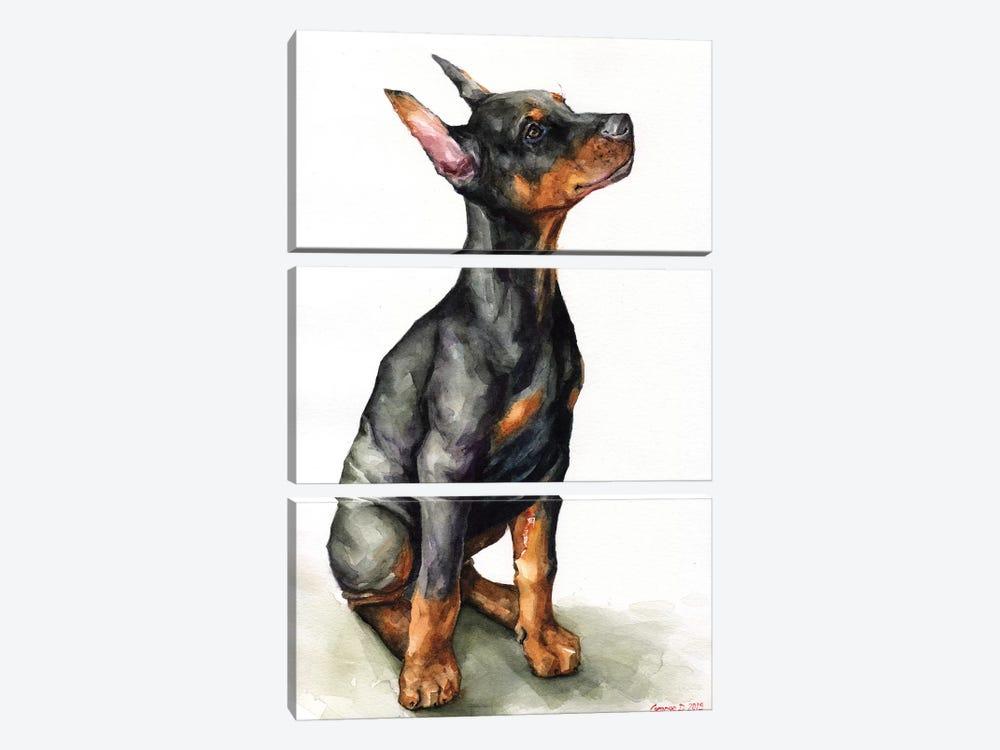 Doberman Puppy by George Dyachenko 3-piece Canvas Artwork