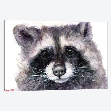 Raccoon Canvas Print #GDY190} by George Dyachenko Canvas Wall Art