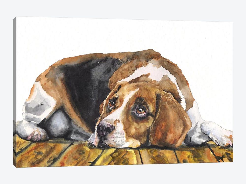 Beagle by George Dyachenko 1-piece Canvas Artwork