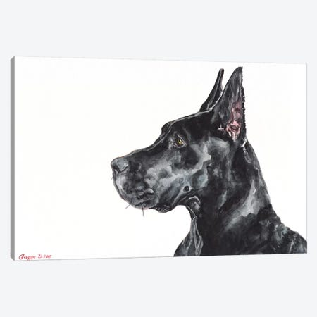 Black Dane Canvas Print #GDY195} by George Dyachenko Art Print
