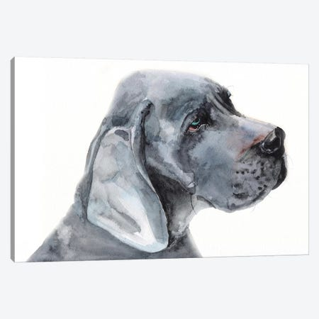 Blue Great Dane Canvas Print #GDY197} by George Dyachenko Art Print