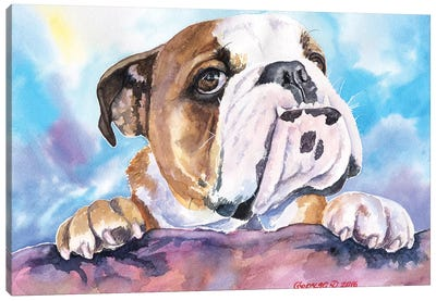 Bulldog Cute Canvas Art Print