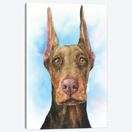Doberman Puppy Canvas Print #GDY212} by George Dyachenko Canvas Art Print
