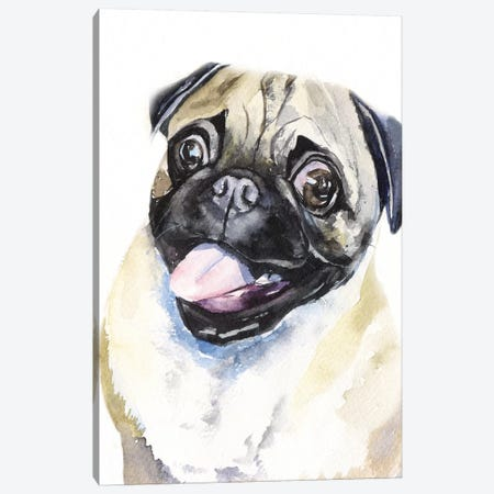 Fawn Pug Canvas Print #GDY217} by George Dyachenko Canvas Wall Art