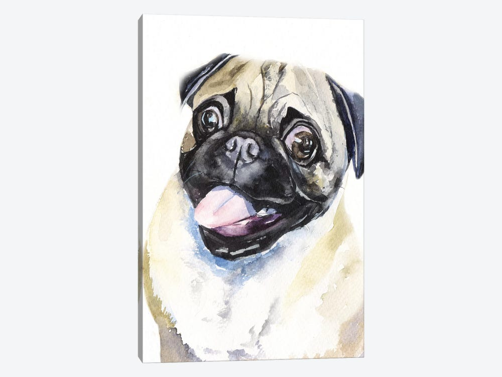 Fawn Pug by George Dyachenko 1-piece Art Print