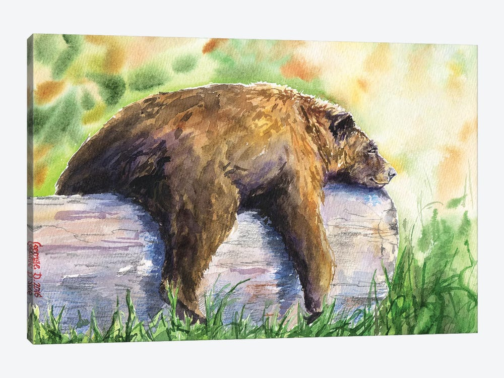 Grizzly 1-piece Canvas Print