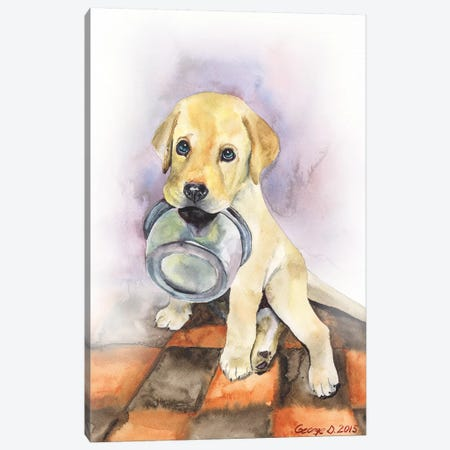 Labrador Puppy Canvas Print #GDY223} by George Dyachenko Canvas Wall Art