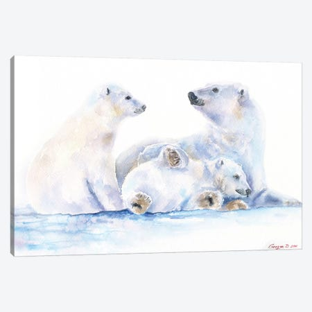 Polar Bears Canvas Print #GDY227} by George Dyachenko Canvas Print