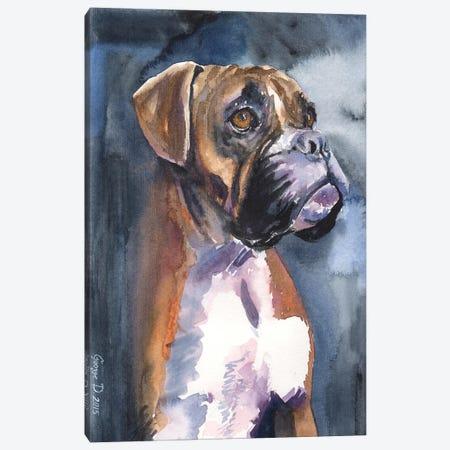 Boxer In The Mist Canvas Print #GDY22} by George Dyachenko Canvas Art Print